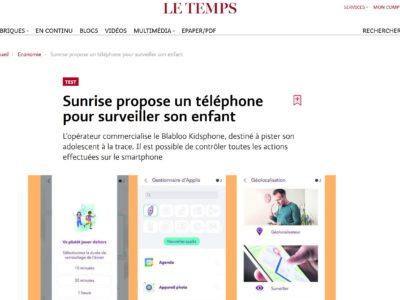 Le téléphone pleure, les parents raquent. Réaction à l'article «Sunrise propose un téléphone pour surveiller son enfant», Le Temps, 24.11.20.